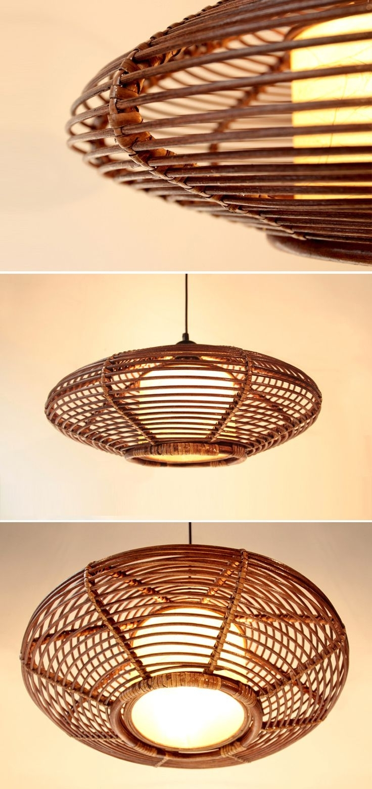 171 Best Weaving Lamps / Wyplatane Lampy Images On Pinterest For Most Recently Released Outdoor Rattan Hanging Lights (View 1 of 20)
