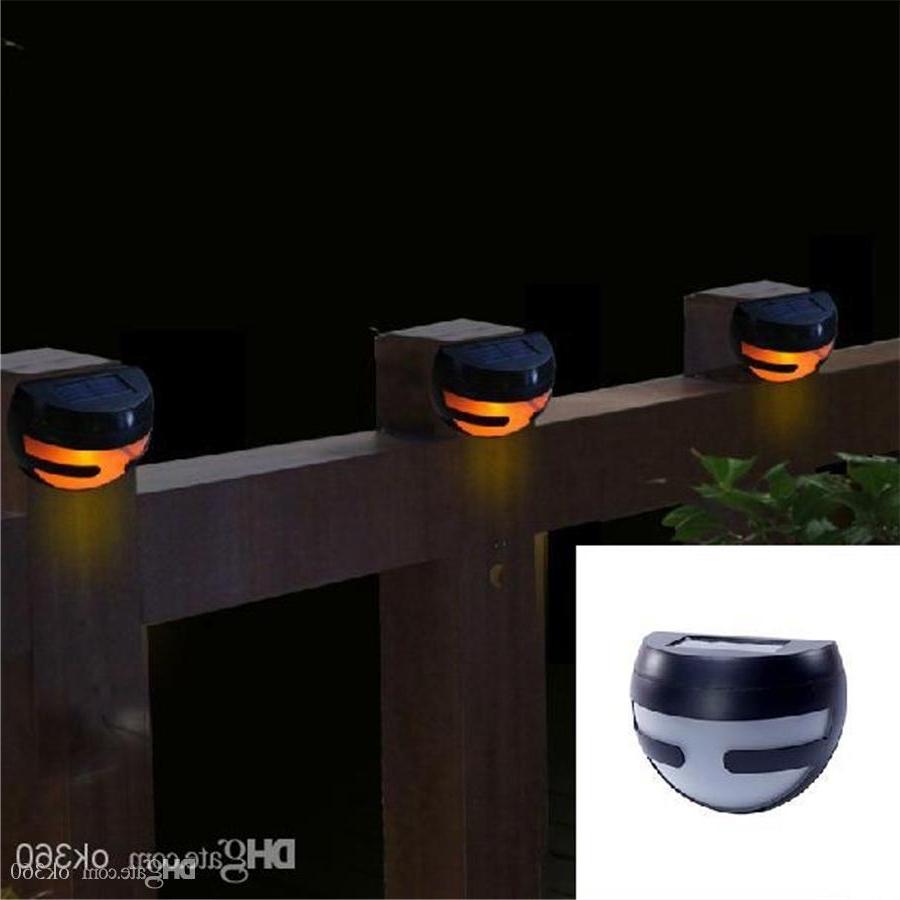 2 Led Solar Power Wall Light Sensor Light Stair Parapet Walkway Inside Most Current Pir Solar Outdoor Wall Lights (View 17 of 20)