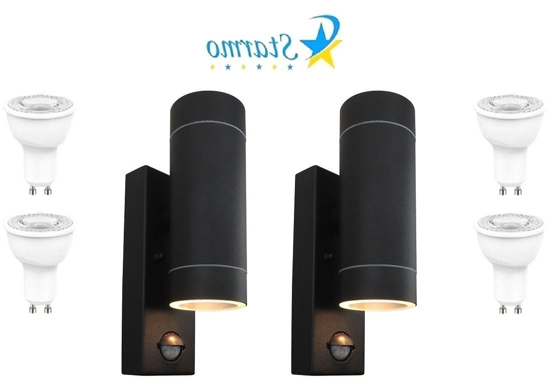 2 X Starmo Dual Pir Wall Light Up & Down Illumination Motion Sensor For Preferred Led Outdoor Raccoon Wall Lights With Motion Detector (View 20 of 20)