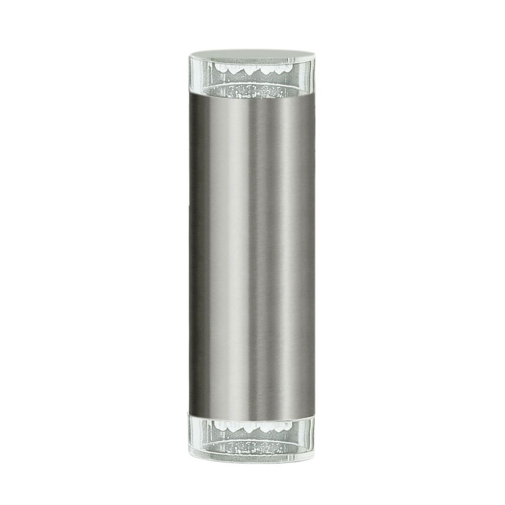 200Mm Eglo Riga Outdoor Led Wall Lighting Inside Most Recently Released Riga 3W Led Up/down Wall Pillar Spot Light Stainless Steel / Neutral  (View 2 of 20)