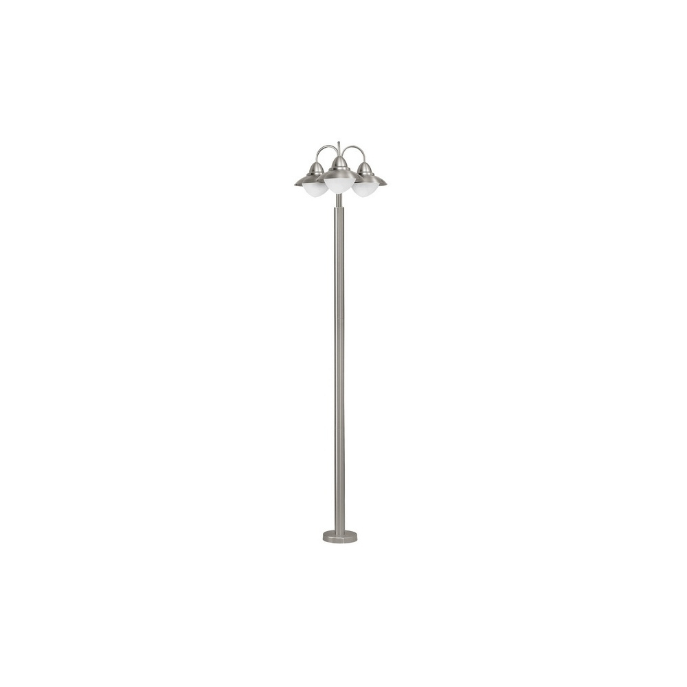 200Mm Eglo Riga Outdoor Led Wall Lighting With Most Current Eglo Lighting 83971 Sidney 3 Light Traditional Stainless Steel Lamp (View 3 of 20)