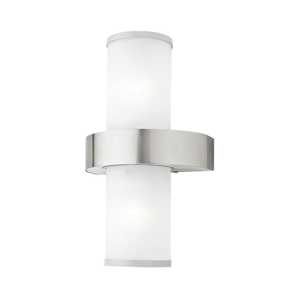 200Mm Eglo Riga Outdoor Led Wall Lighting With Popular Eglo Beverly 86541 Ip44 Outdoor Wall Light In Stainless Steel (View 4 of 20)