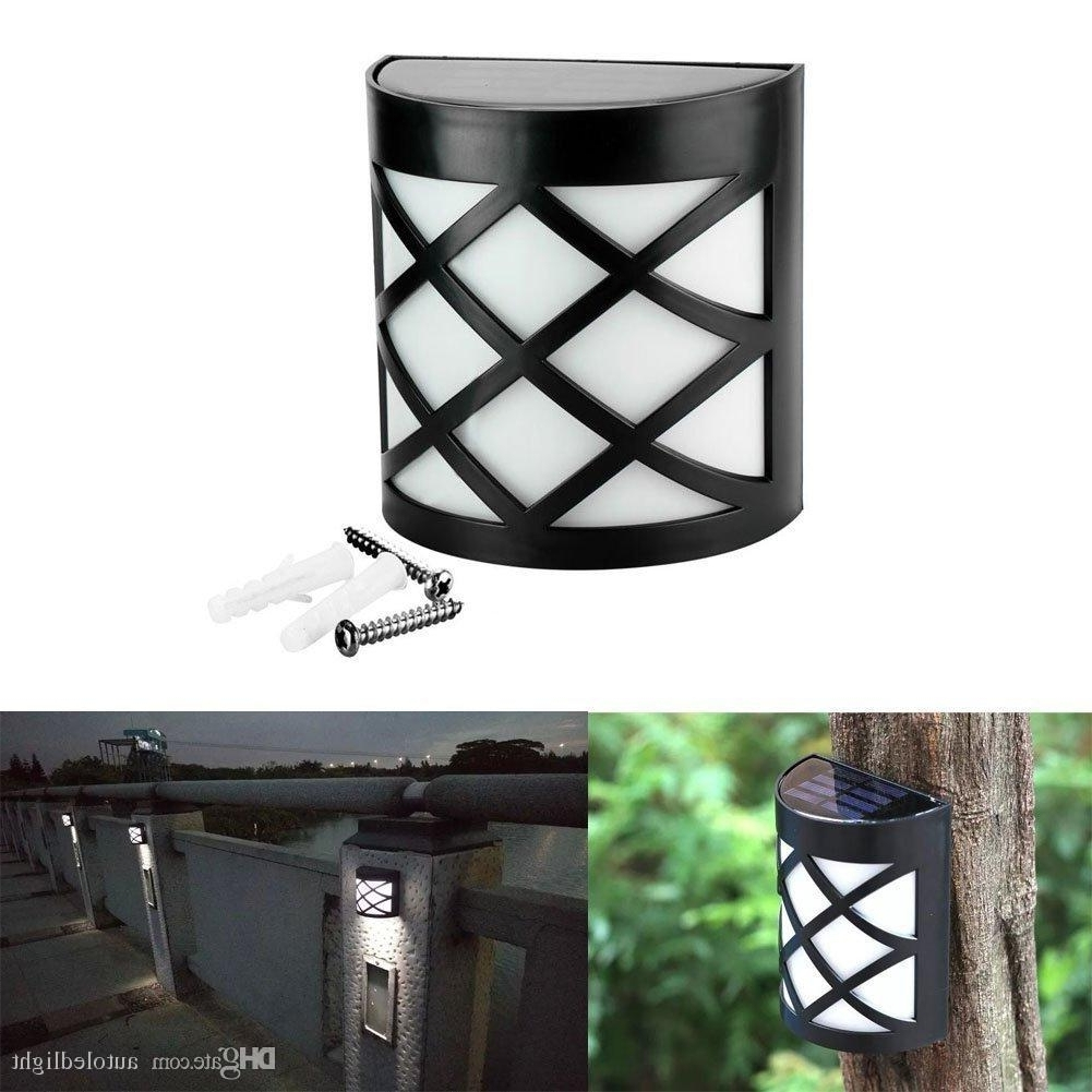 2018 6 Led Solar Powered Outdoor Path Light Yard Fence Gutter Garden With Regard To Fashionable Solar Powered Outdoor Wall Lights (View 4 of 20)