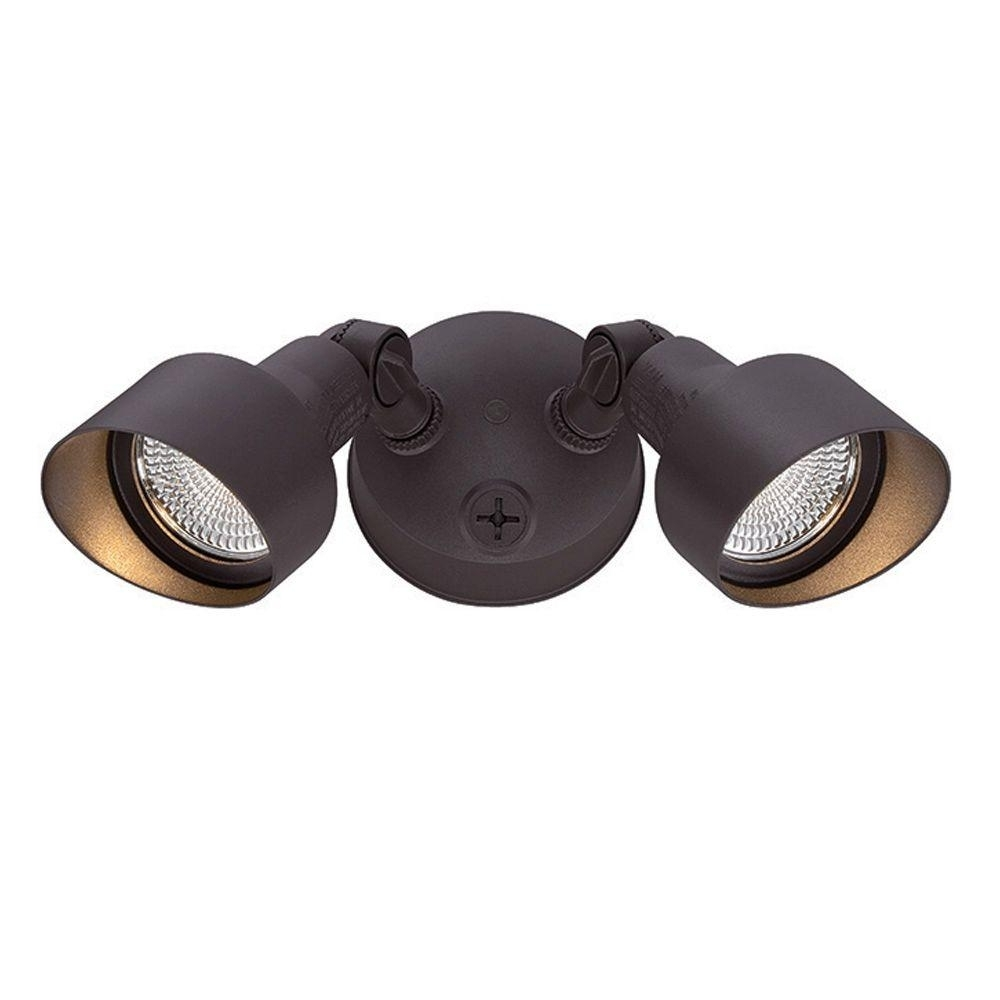 2018 Acclaim Lighting Floodlights Collection 2 Light Architectural Bronze Pertaining To Outdoor Ceiling Flood Lights (View 2 of 20)