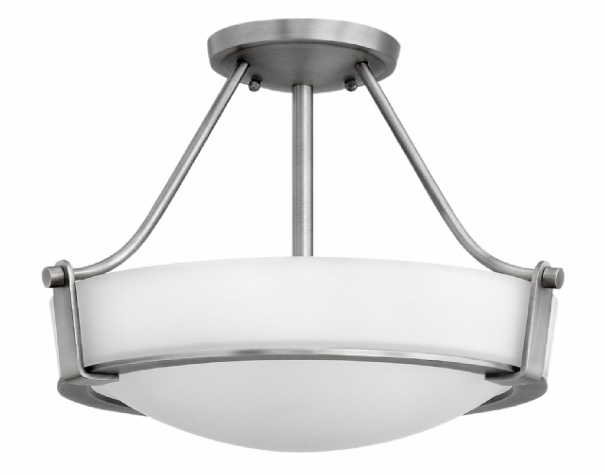 2018 Antique Nickel Hathaway > Interior Ceiling Mount Intended For Flush Mount Hinkley Lighting (View 2 of 20)
