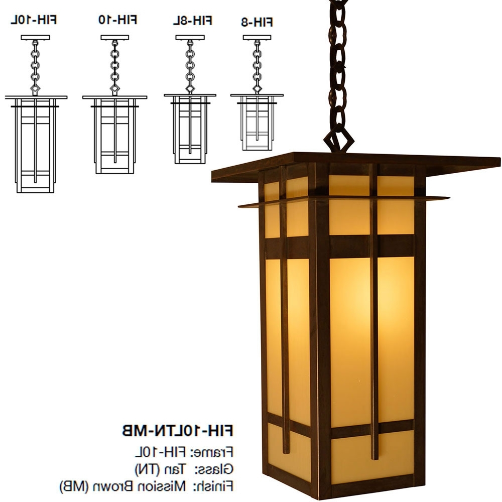 2018 Arroyo Craftsman Fih Finsbury Mission Exterior Hanging Light – Arr Fih In Craftsman Outdoor Ceiling Lights (Gallery 6 of 20)