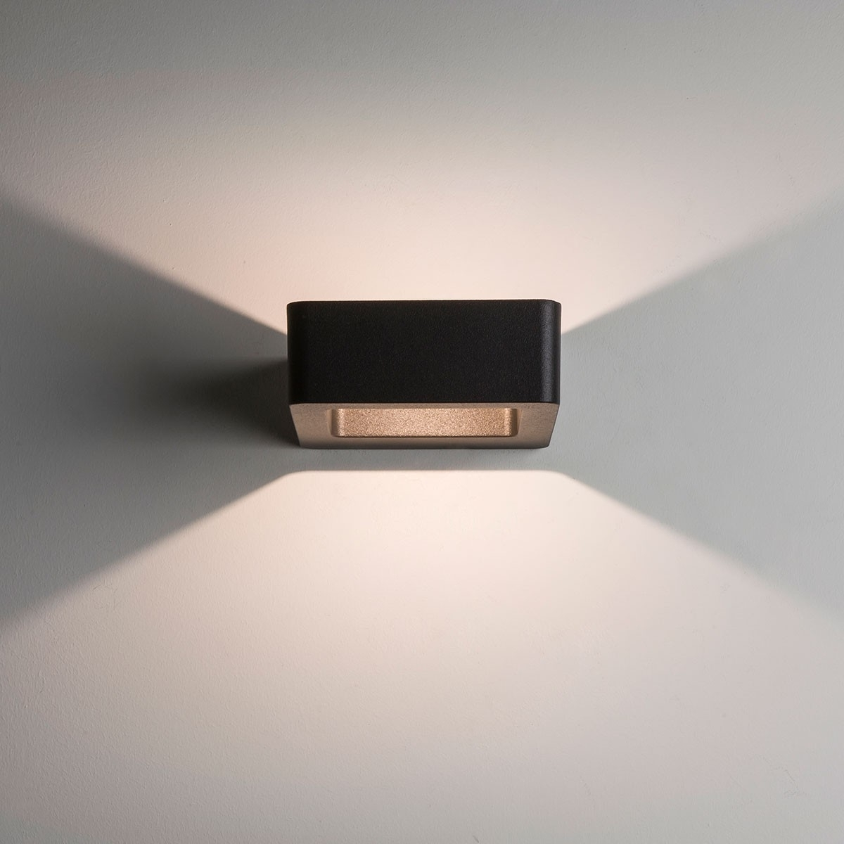 2018 Astro Napier Wall Led Black Outdoor Wall Light At Uk Electrical Intended For Black Outdoor Wall Lighting (View 19 of 20)