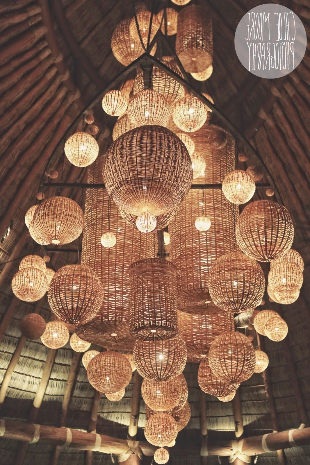 2018 Awesome Wicker Basket Lighting Mukul Resort, Nicaragua. (Gallery 8 of 20)