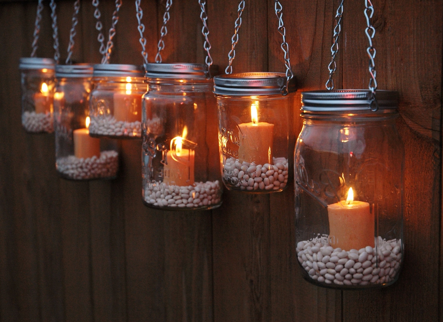 2018 Diy : Set Mini Mason Jar Mugs With Tea Lights Outdoor Lighting Solar Pertaining To Outdoor Hanging Tea Lights (View 7 of 20)