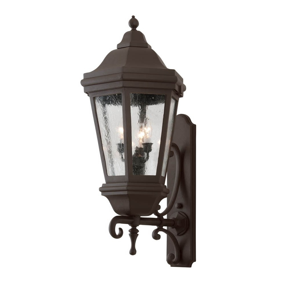 2018 Extra Large Outdoor Wall Lighting Inside Troy Bcd6834Bz Verona 3 Light Wall Lantern In Bronze – Homeclick (View 5 of 20)