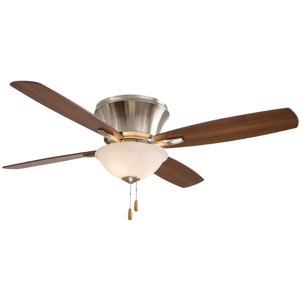 2018 Flush Mount Ceiling Fan : 79 Astonishing Fans Without Lights With Pertaining To Hampton Bay Outdoor Lighting At Wayfair (View 1 of 20)