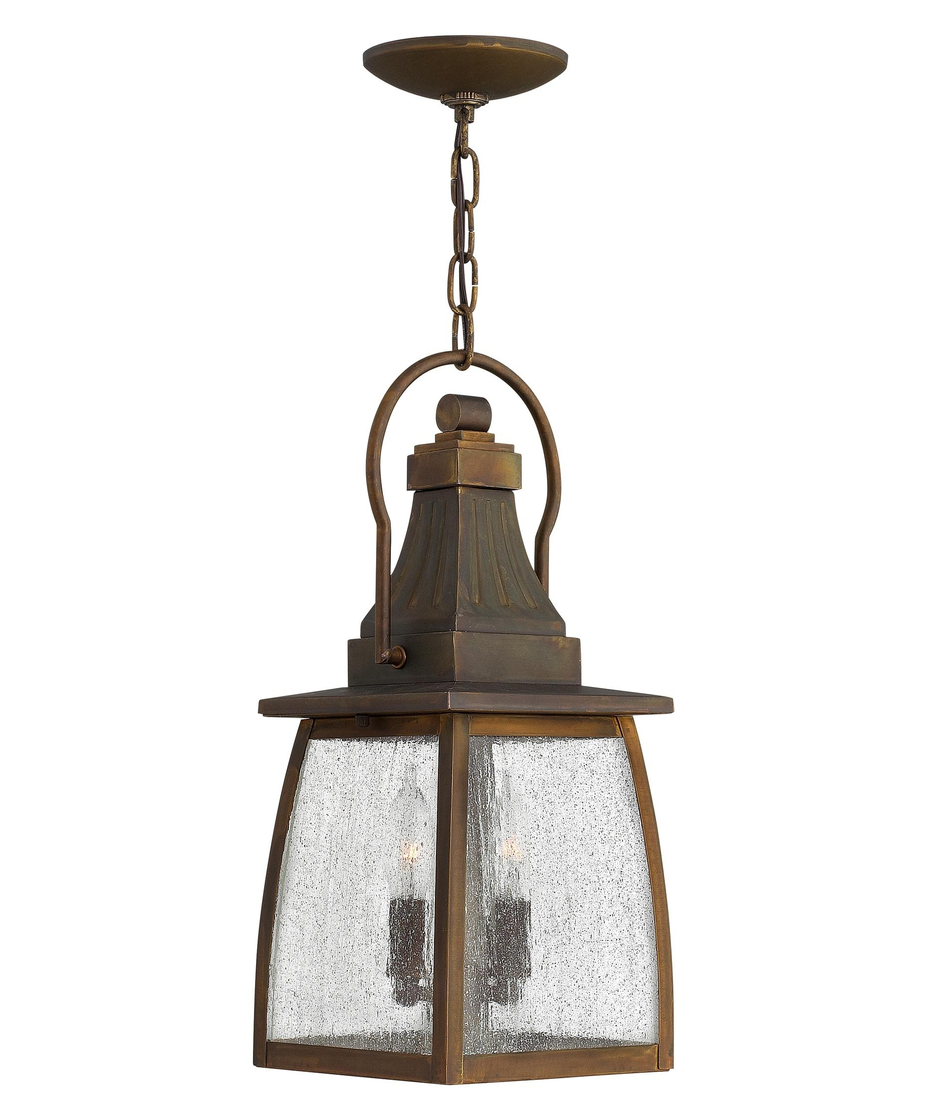 2018 Hinkley Outdoor Hanging Lights Intended For Hinkley Lighting 1202 Montauk 7 Inch Wide 2 Light Outdoor Hanging (Gallery 7 of 20)