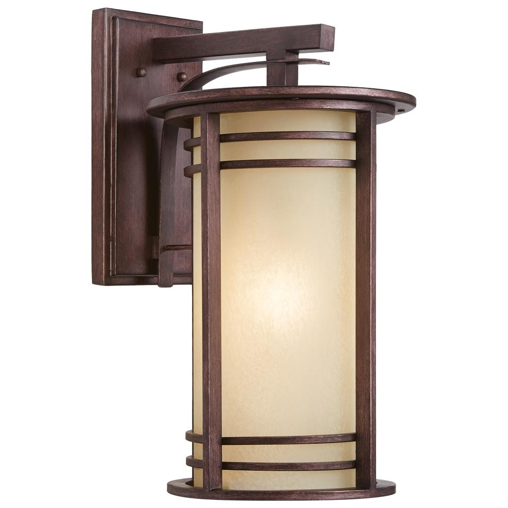 2018 Home Decorators Collection 20 In. 1 Light Bronze Outdoor Wall Within Outdoor Wall Lighting At Home Depot (Gallery 20 of 20)