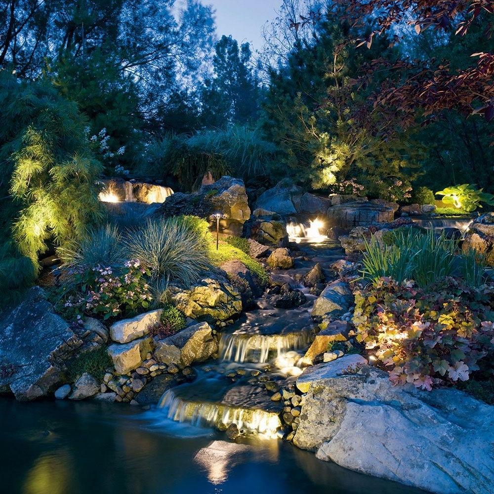 2018 Kichler Outdoor Landscape Lighting Regarding Installing : Kichler Landscape Lighting Landscape Lighting Service (View 1 of 20)