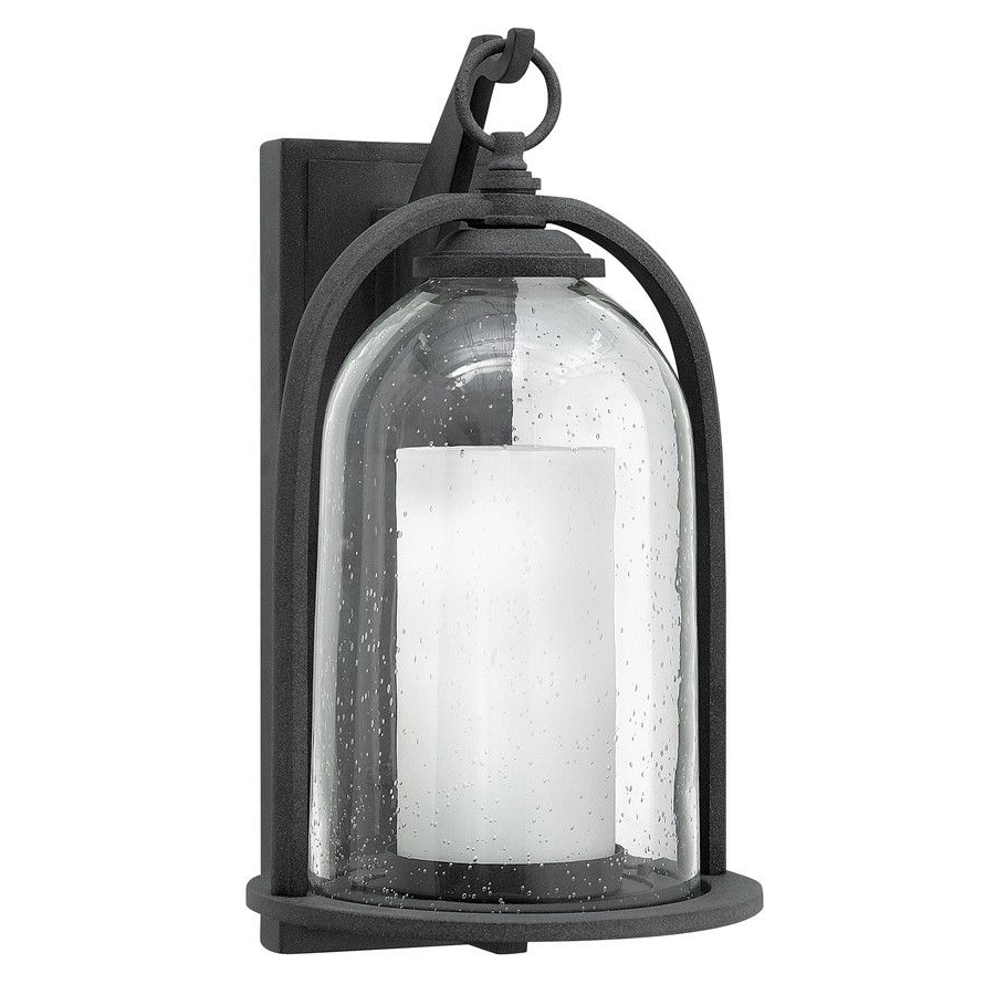 2018 Large Wall Mount Hinkley Lighting Pertaining To Hinkley Lighting Quincy 1 Light Outdoor Large Wall Mount Aged Zinc (View 2 of 20)