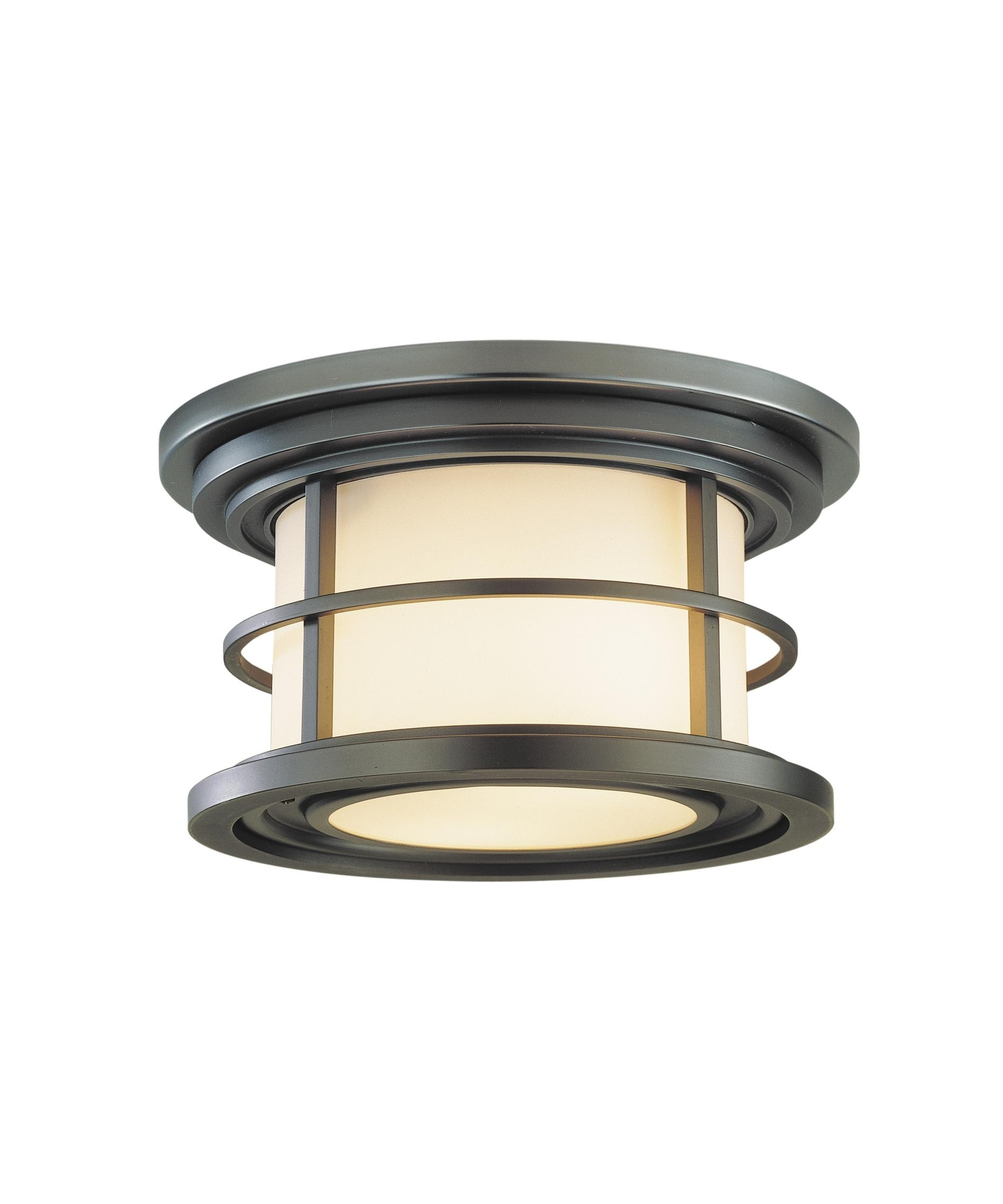 2018 Murray Feiss Ol2213 Lighthouse 10 Inch Wide 2 Light Outdoor Flush For Commercial Outdoor Ceiling Lights (View 1 of 20)