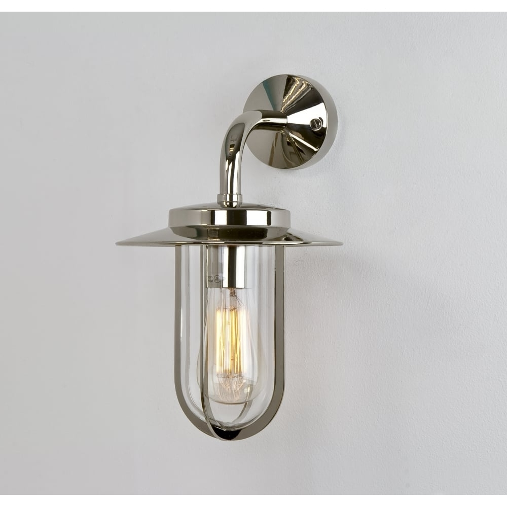2018 Nickel Polished Outdoor Wall Lighting Throughout Astro Montparnasse 0484 Outdoor Wall Light (View 13 of 20)