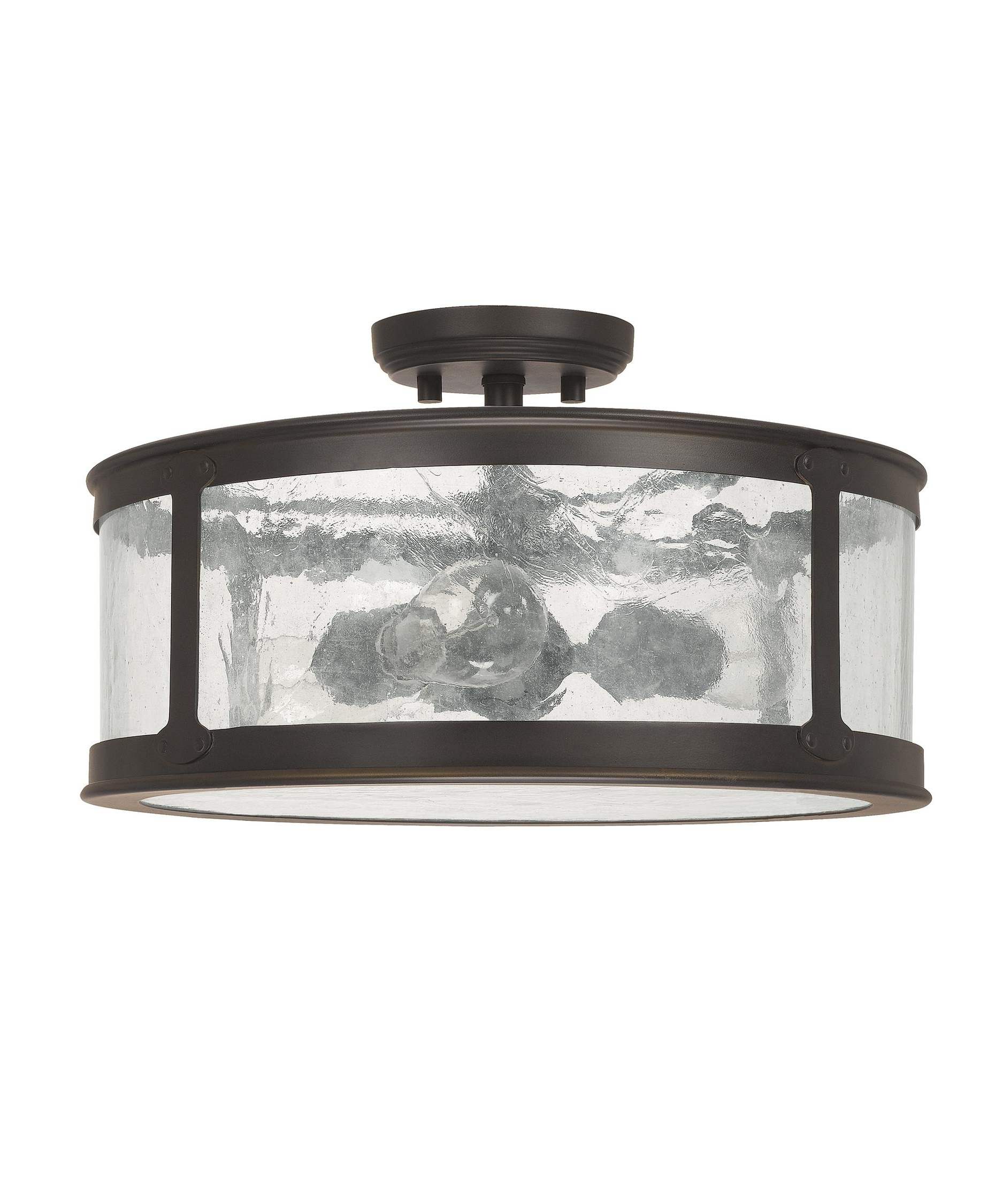 2018 Outdoor Ceiling Lighting Fixtures Regarding Capital Lighting 9567 Dylan 16 Inch Wide 3 Light Outdoor Flush Mount (View 2 of 20)