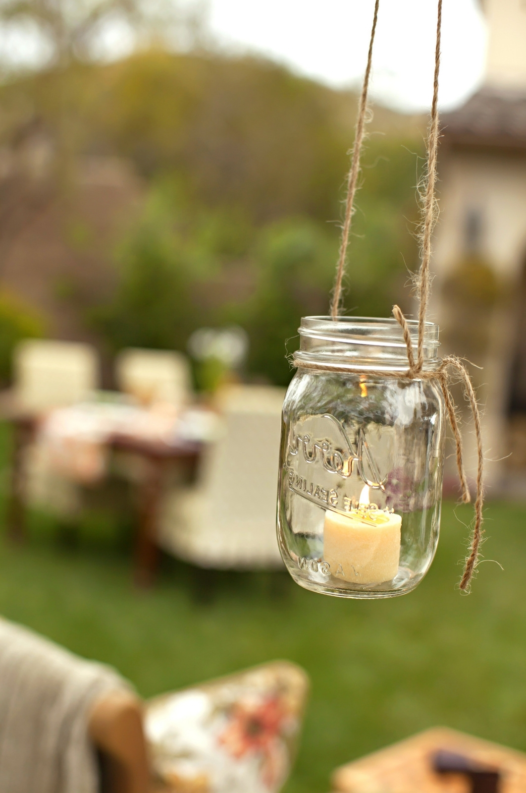 2018 Outdoor Hanging Mason Jar Lights For House Of Fifty July/august  (View 1 of 20)