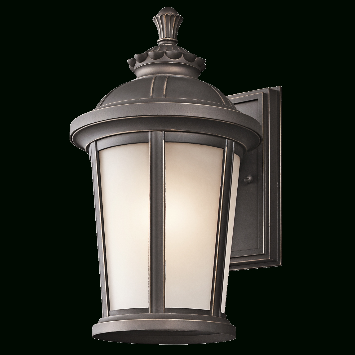 2018 Outdoor Wall Led Kichler Lighting Throughout Ralston Collection 1 Light Outdoor Wall Lamp In Rubbed Bronze (View 18 of 20)