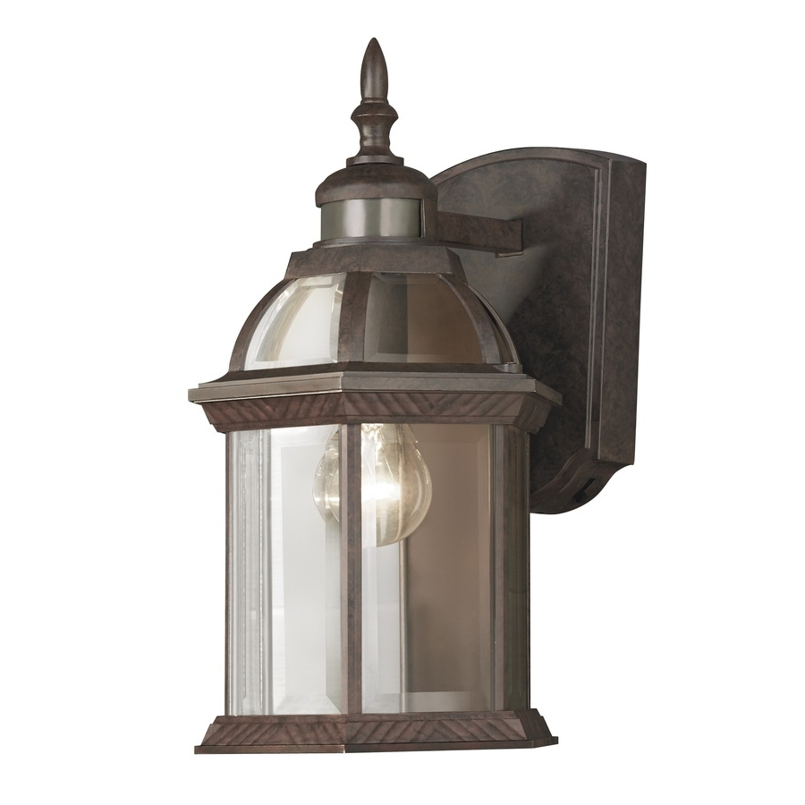 2018 Outdoor Wall Light Fixtures With Motion Sensor Inside Shop Portfolio  (View 1 of 20)