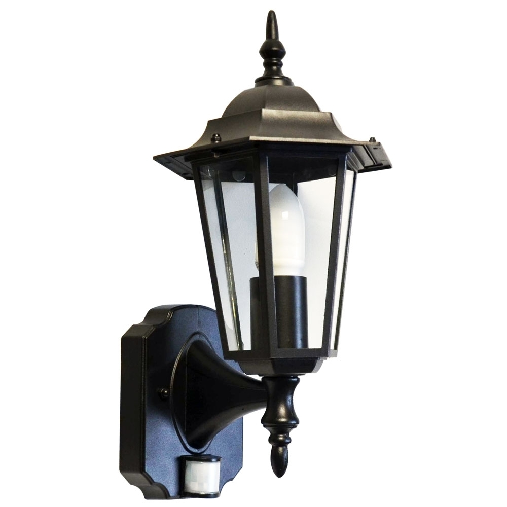 2018 Outdoor Wall Light Motion Sensor Black • Outdoor Lighting Pertaining To Outdoor Wall Light Fixtures With Motion Sensor (View 15 of 20)