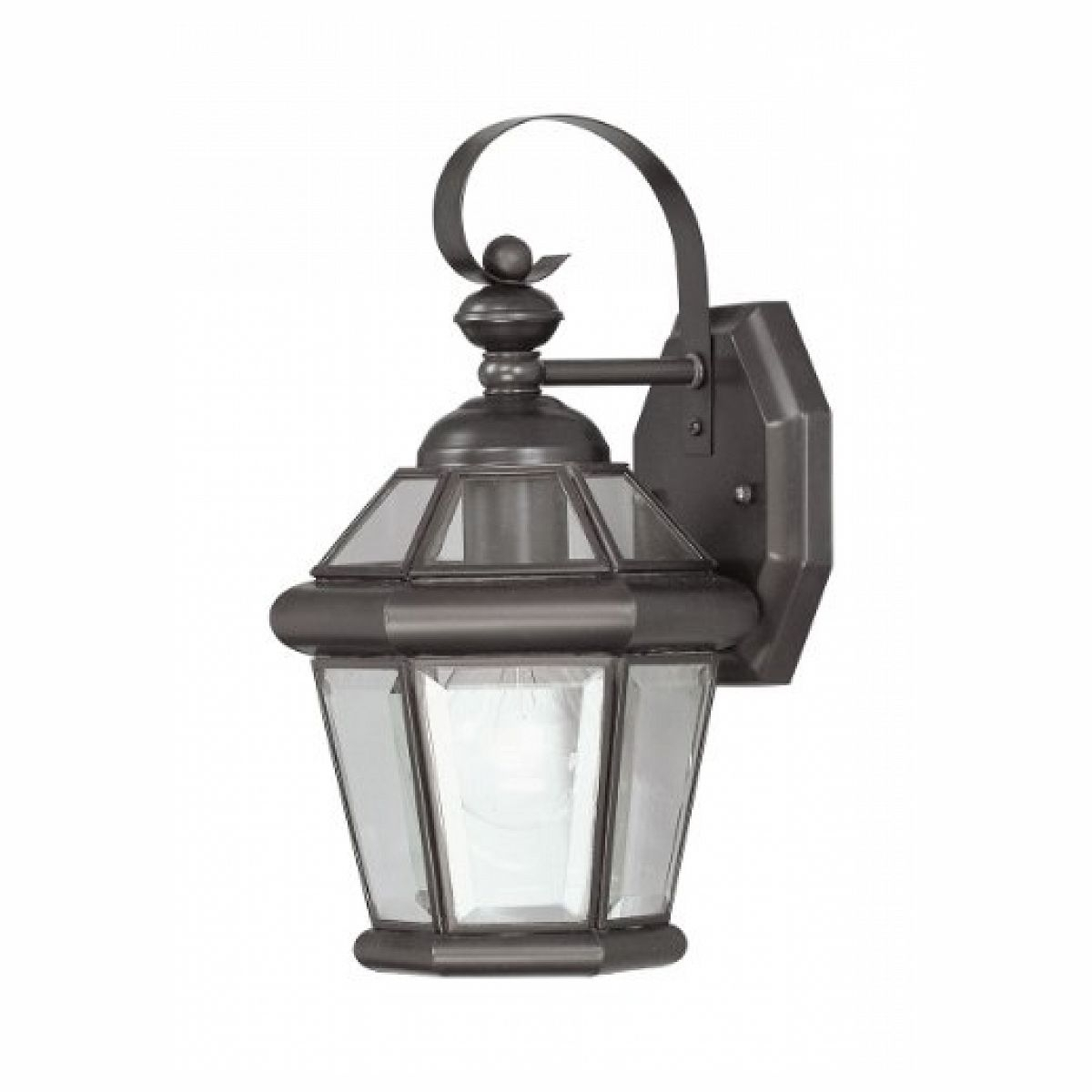 2018 Outdoor Wall Lights At Wickes Intended For Flat Wall Light Fixtures: Livex Lighting 206107 Outdoor Wall Lantern (View 1 of 20)