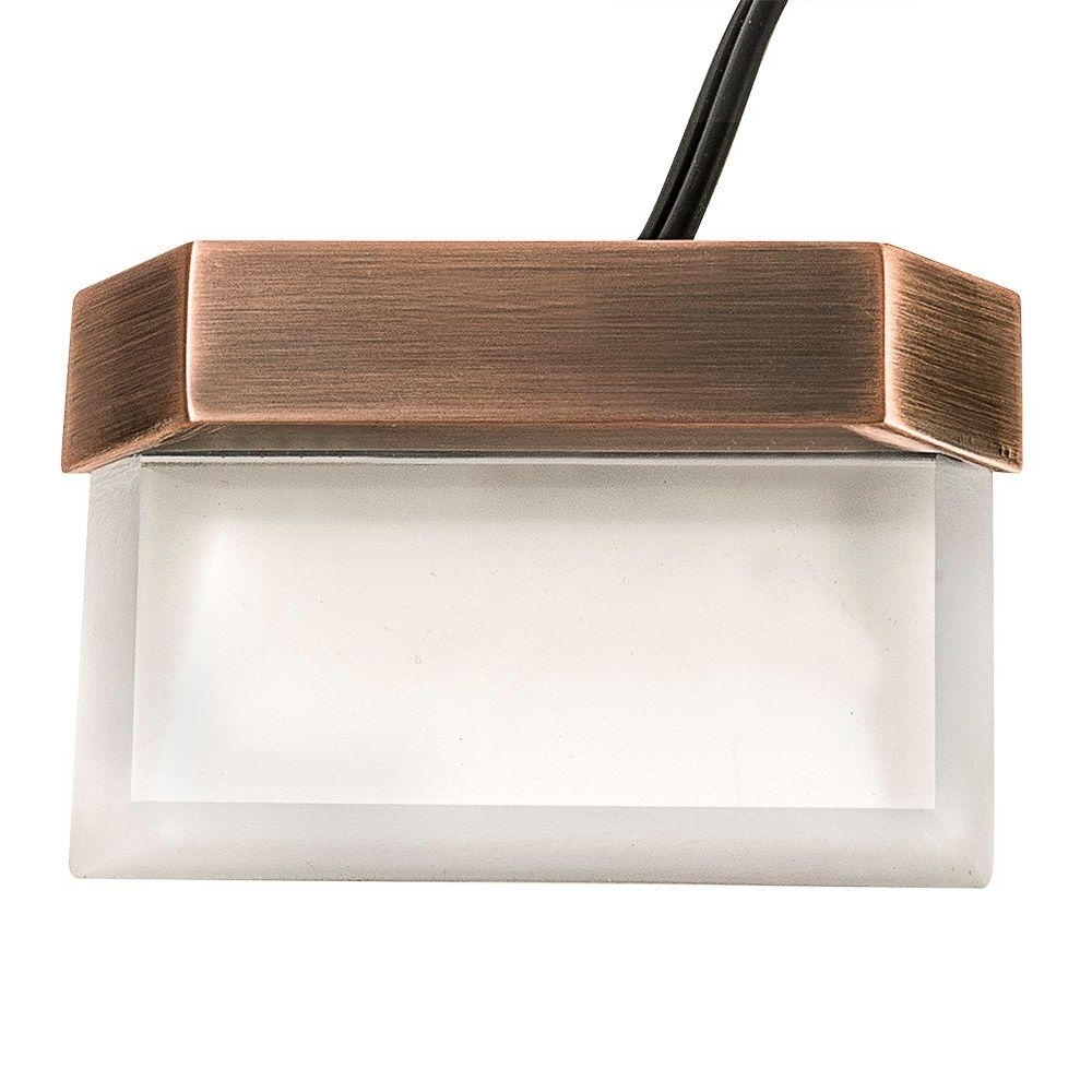 2018 Plastic Outdoor Wall Light Fixtures Pertaining To Hampton Bay Low Voltage Antique Brass Outdoor Integrated Led Plastic (Gallery 13 of 20)