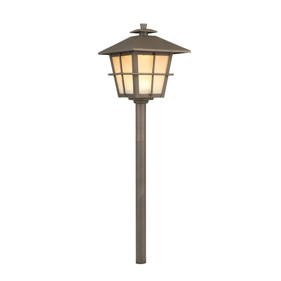 2018 Portfolio 4 Watt Specialty Textured Bronze Low Voltage Led Path Intended For Lowes Solar Garden Lights Fixtures (View 6 of 20)
