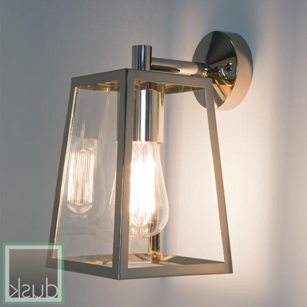 2019 Astro (7106) Calvi Lantern Exterior Wall Light Polished Nickel In Outdoor Wall Mounted Lights (View 1 of 20)