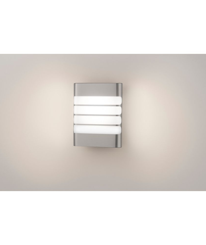 2019 Buy Philips Mygarden Raccoon Pir Led Wall Light – Inox At Argos (View 4 of 20)