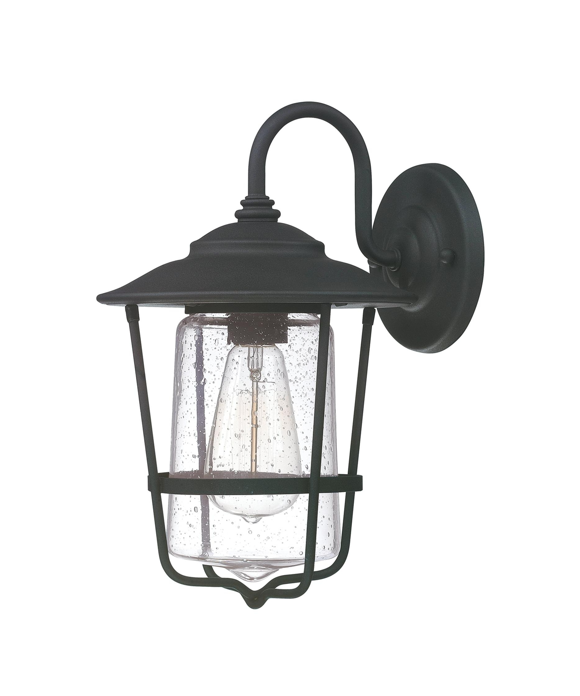 2019 Capital Lighting 9601 Creekside 8 Inch Wide 1 Light Outdoor Wall Intended For Outdoor Wall Lighting With Seeded Glass (Gallery 17 of 20)
