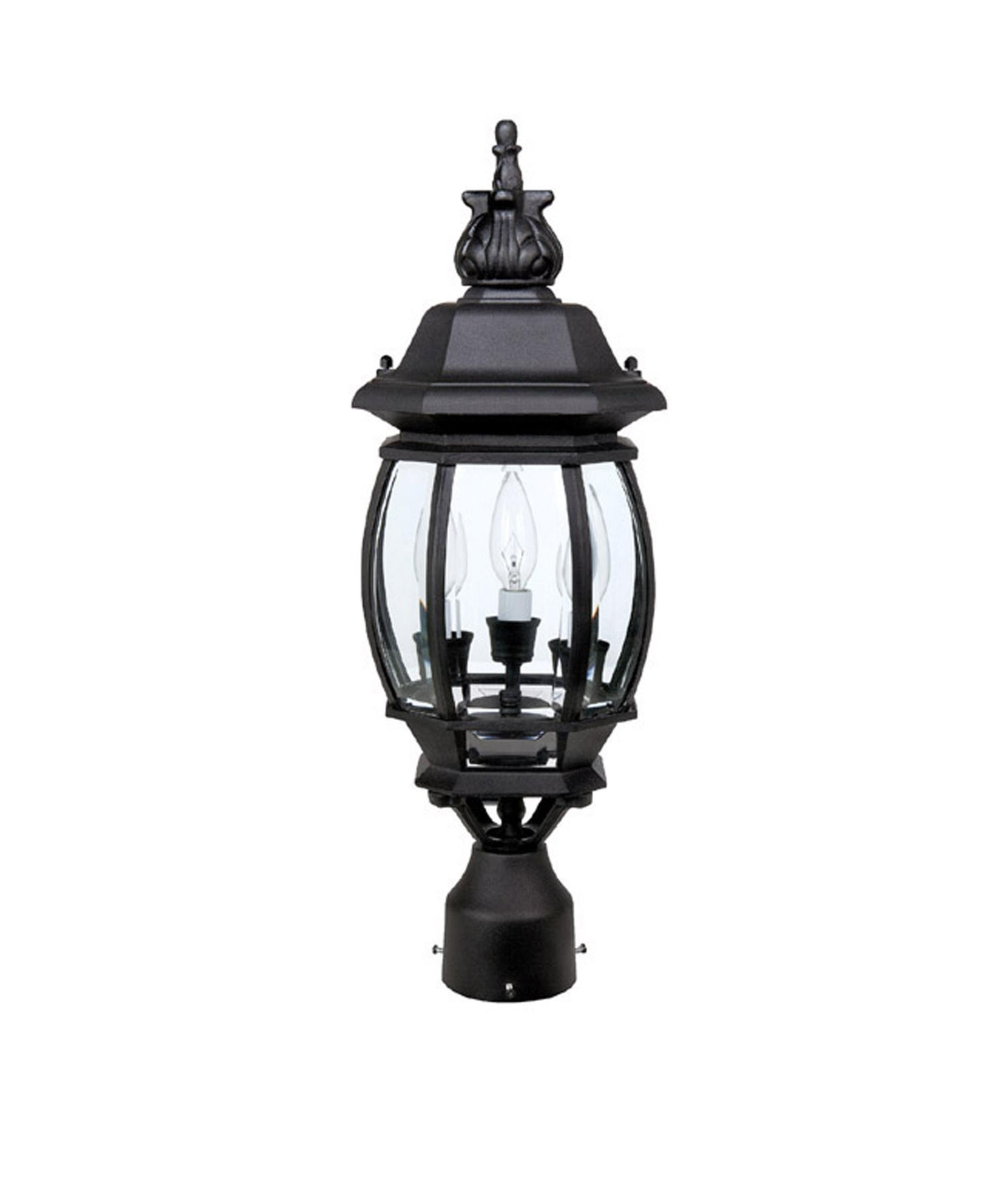2019 Capital Lighting 9865 French Country 8 Inch Wide 3 Light Outdoor Regarding Outdoor Hanging Post Lights (View 8 of 20)