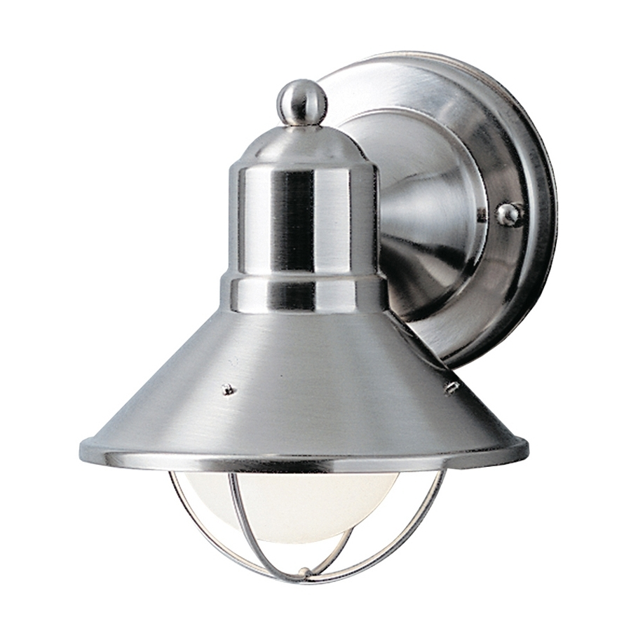 2019 Chrome Outdoor Wall Lighting Intended For Shop Kichler Seaside (View 6 of 20)