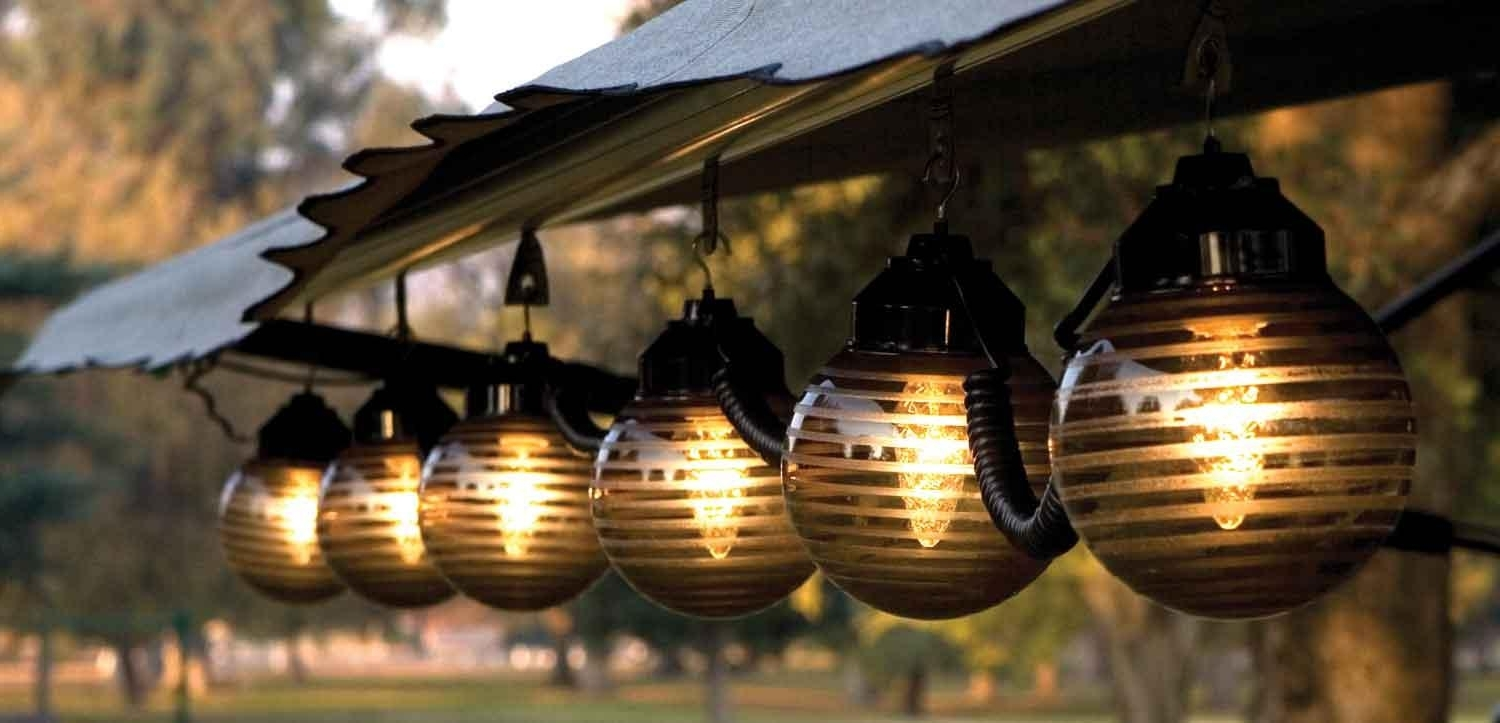 2019 Hanging Outdoor Lights With Regard To Patio Lighting Options – Ways To Light Up Your Patio (Gallery 17 of 20)