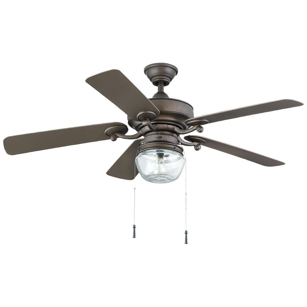 2019 Indoor Outdoor Ceiling Fans Lights Intended For Home Decorators Collection Bromley 52 In. Led Indoor/outdoor Bronze (Gallery 15 of 20)