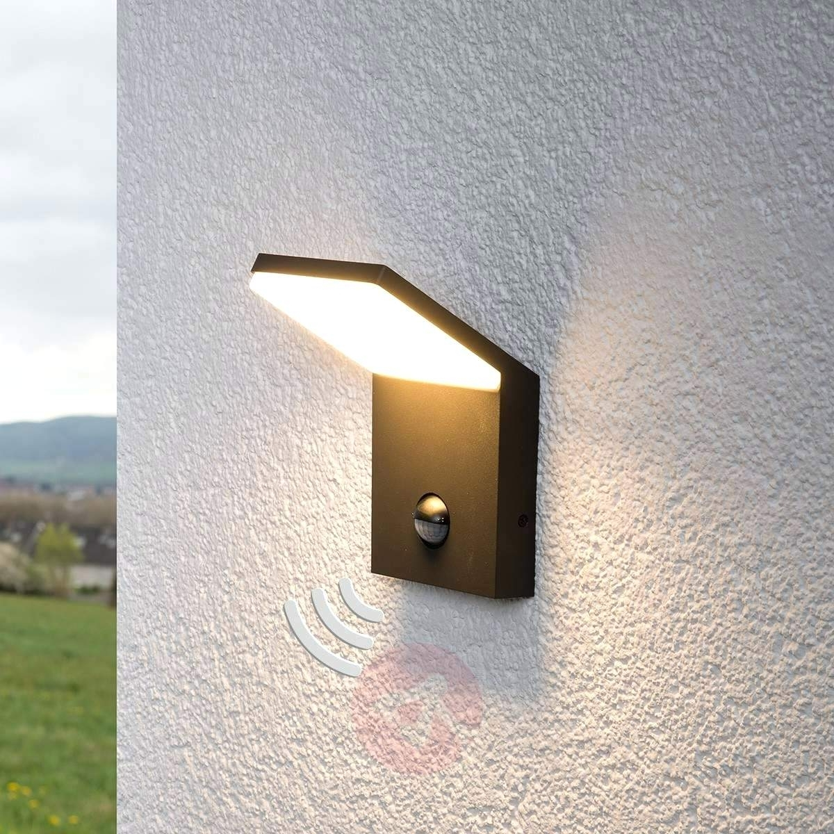 2019 Light : Best Wall Mounted Solar Lamp Pir Led Light With Outdoor With Regard To Outdoor Wall Led Lighting (View 2 of 20)