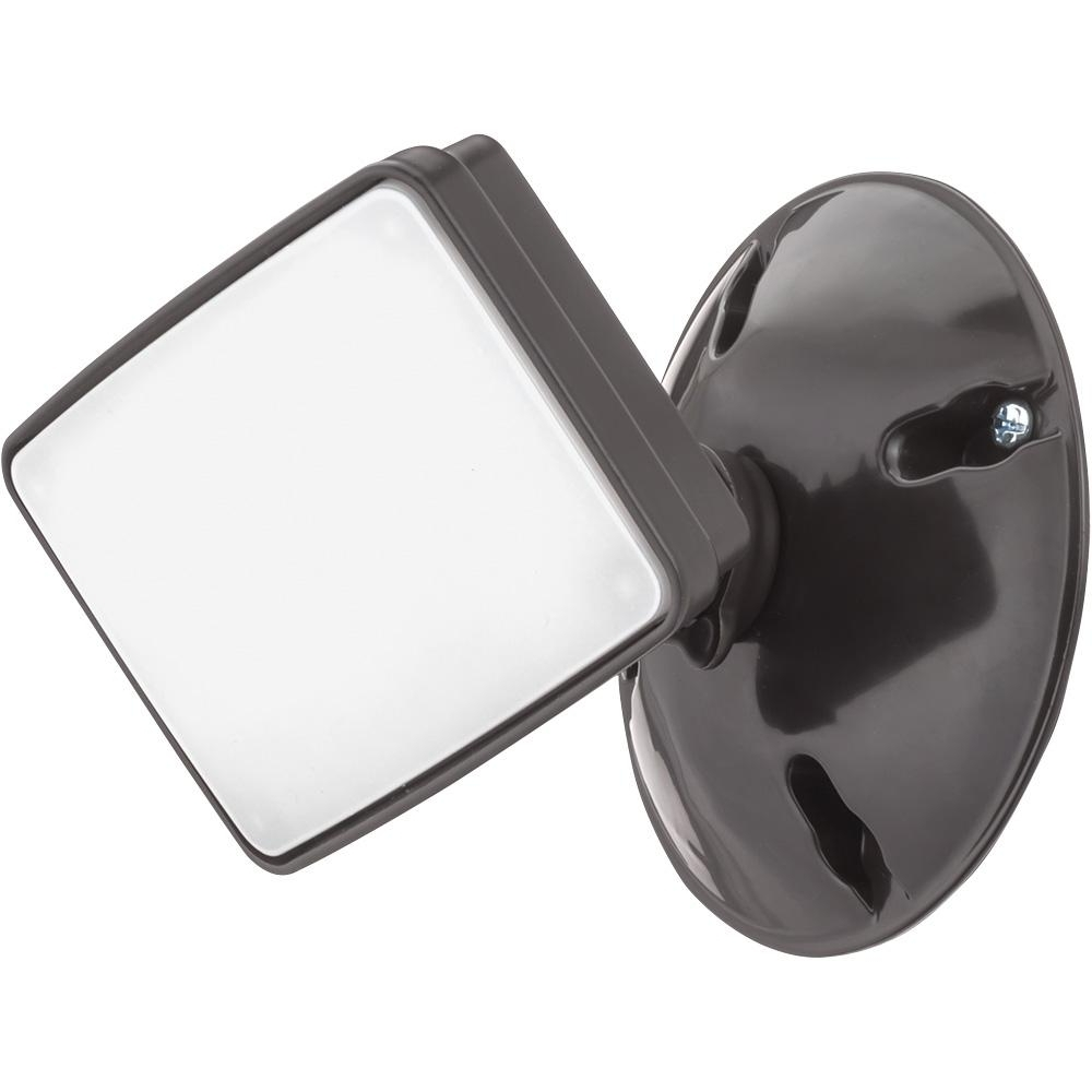 2019 Lithonia Lighting Bronze Outdoor Integrated Led Square Single Head Regarding Lithonia Lighting Wall Mount Outdoor Bronze Led Floodlight With Photocell (View 1 of 20)