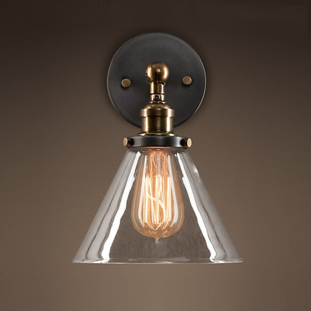 2019 Loft Industrial Wall Sconce American Vintage Wall Lamp Retro Outdoor With Regard To Retro Outdoor Wall Lighting (View 2 of 20)