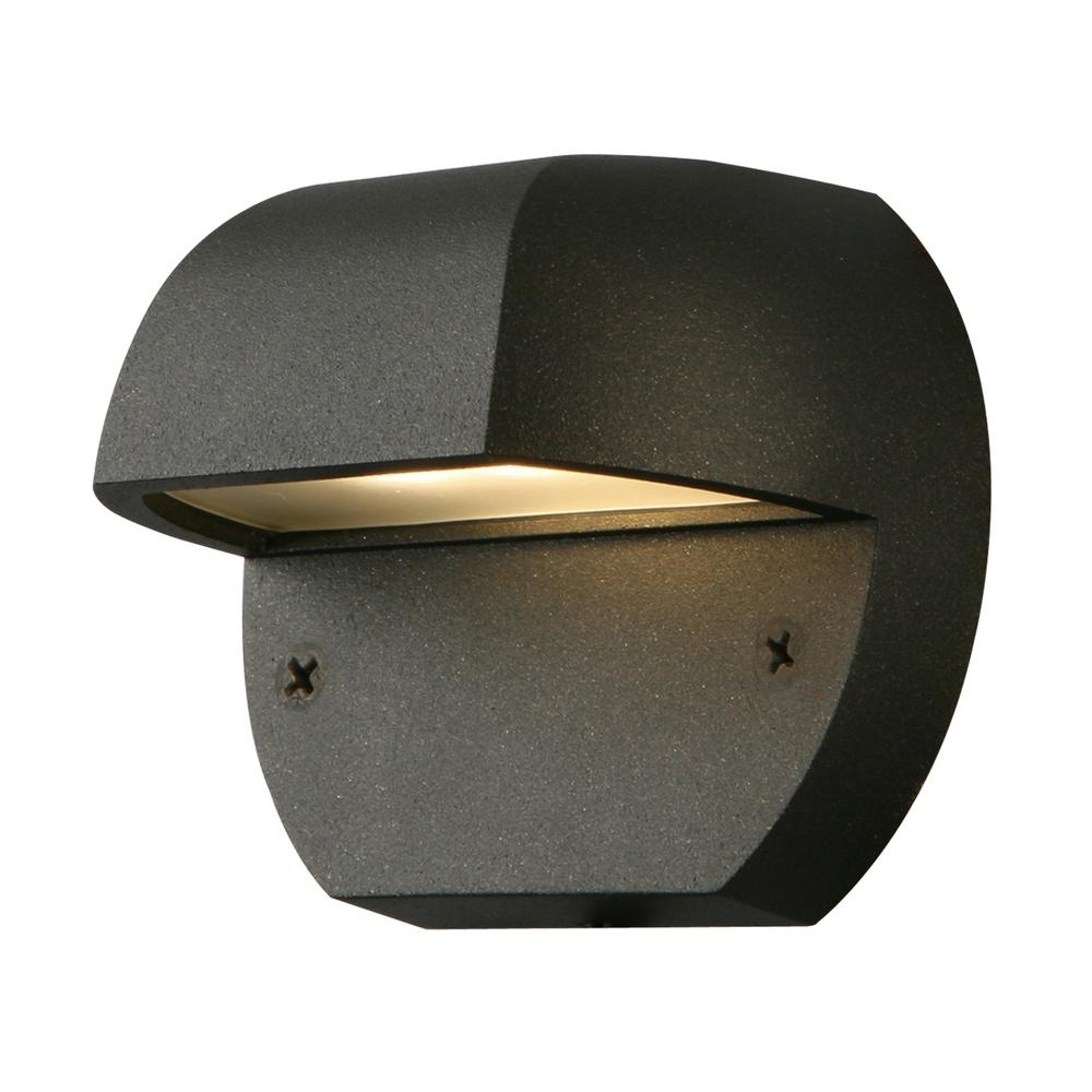 2019 Low Voltage Outdoor Ceiling Lights Inside Hampton Bay Low Voltage Black Outdoor Integrated Led Surface Mount (View 15 of 20)