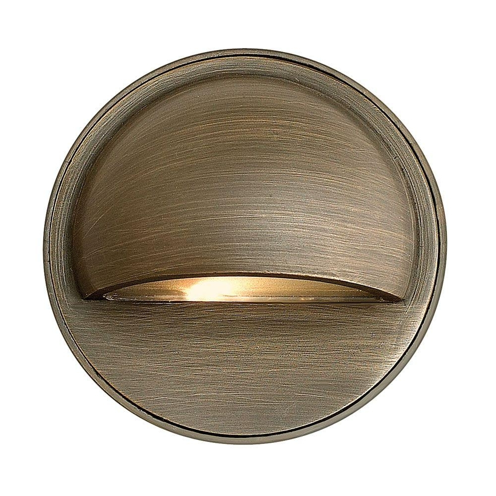 2019 Low Voltage Outdoor Wall Lights With Regard To Hinkley Lighting Low Voltage 20 Watt Matte Bronze Hardy Outdoor (View 8 of 20)