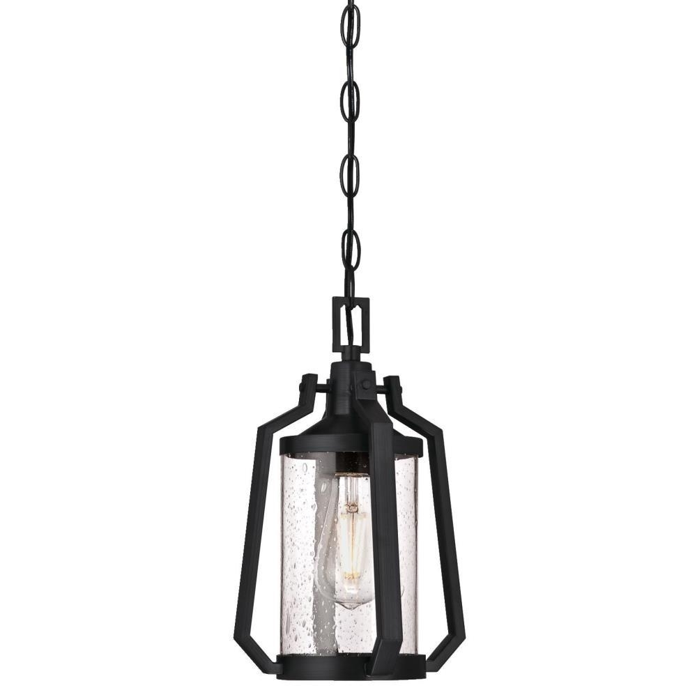 2019 Metal Outdoor Hanging Lights Pertaining To Westinghouse Ridley 1 Light Matte Brushed Gun Metal Outdoor Hanging (View 2 of 20)