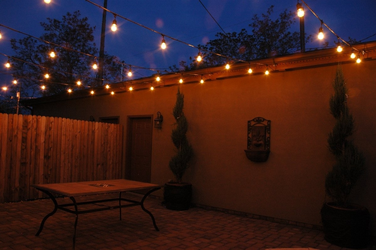 2019 Modern Outdoor String Lights At Wayfair Intended For Newhouse Lighting 15 Light Commercial Grade Outdoor Weatherproof (View 1 of 20)