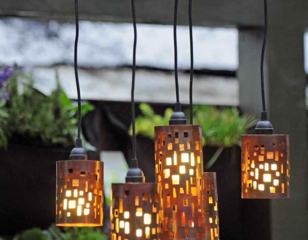2019 Outdoor Hanging Lights With Battery Throughout Chandelier Battery Operated Outdoor Chandeliers For Gazebos And For (View 2 of 20)