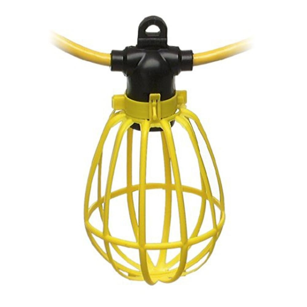 2019 Outdoor Hanging Work Lights Throughout Furniture : Woods Watt Incandescent String Light With Plastic Bulb (Gallery 19 of 20)