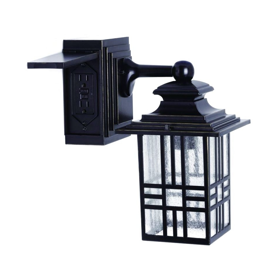 2019 Outdoor Light Fixture With Power Outlet Decorating Ideas And Lights Regarding Outdoor Wall Lights With Receptacle (View 1 of 20)