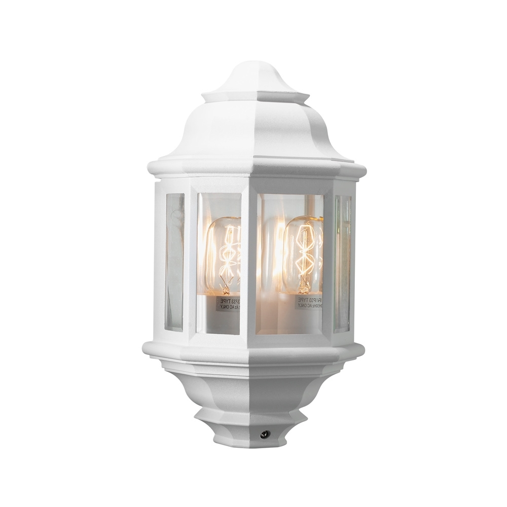 2019 Outdoor Wall Lights In White In White Exterior Wall Lights (Gallery 10 of 20)
