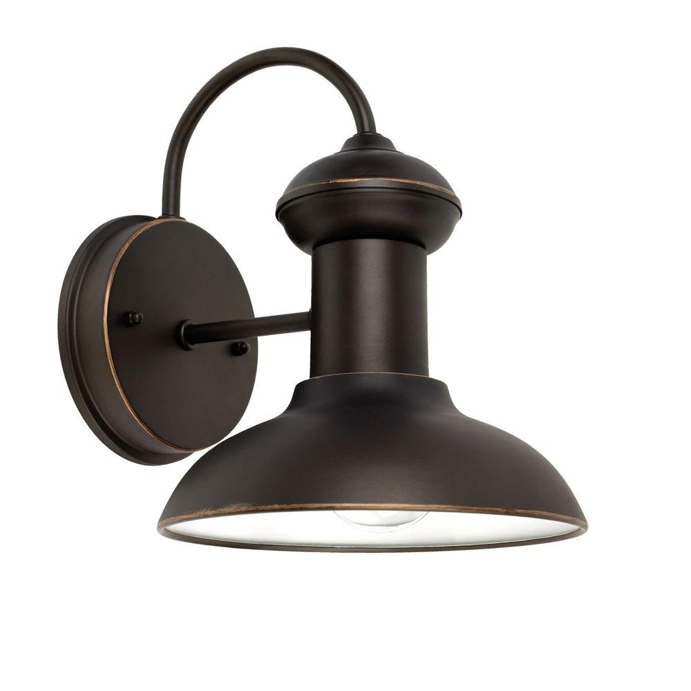 2019 Outside Wall Globe Lights Within Globe Electric Martes 10 In. Oil Rubbed Bronze Downward Indoor (Gallery 11 of 20)