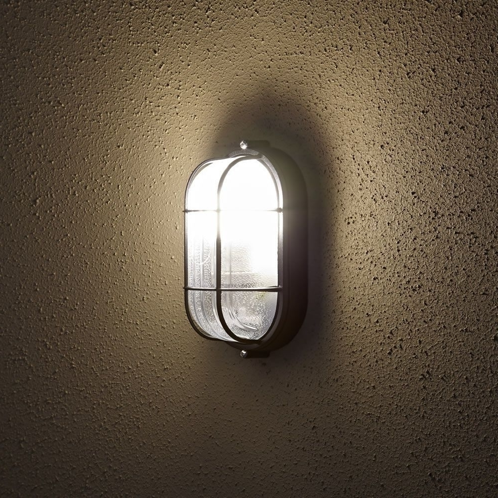 2019 Oval Bulkhead Outdoor Wall Light With Outdoor Bulkhead Lighting For Garden Outdoor Wall Lights (View 16 of 20)