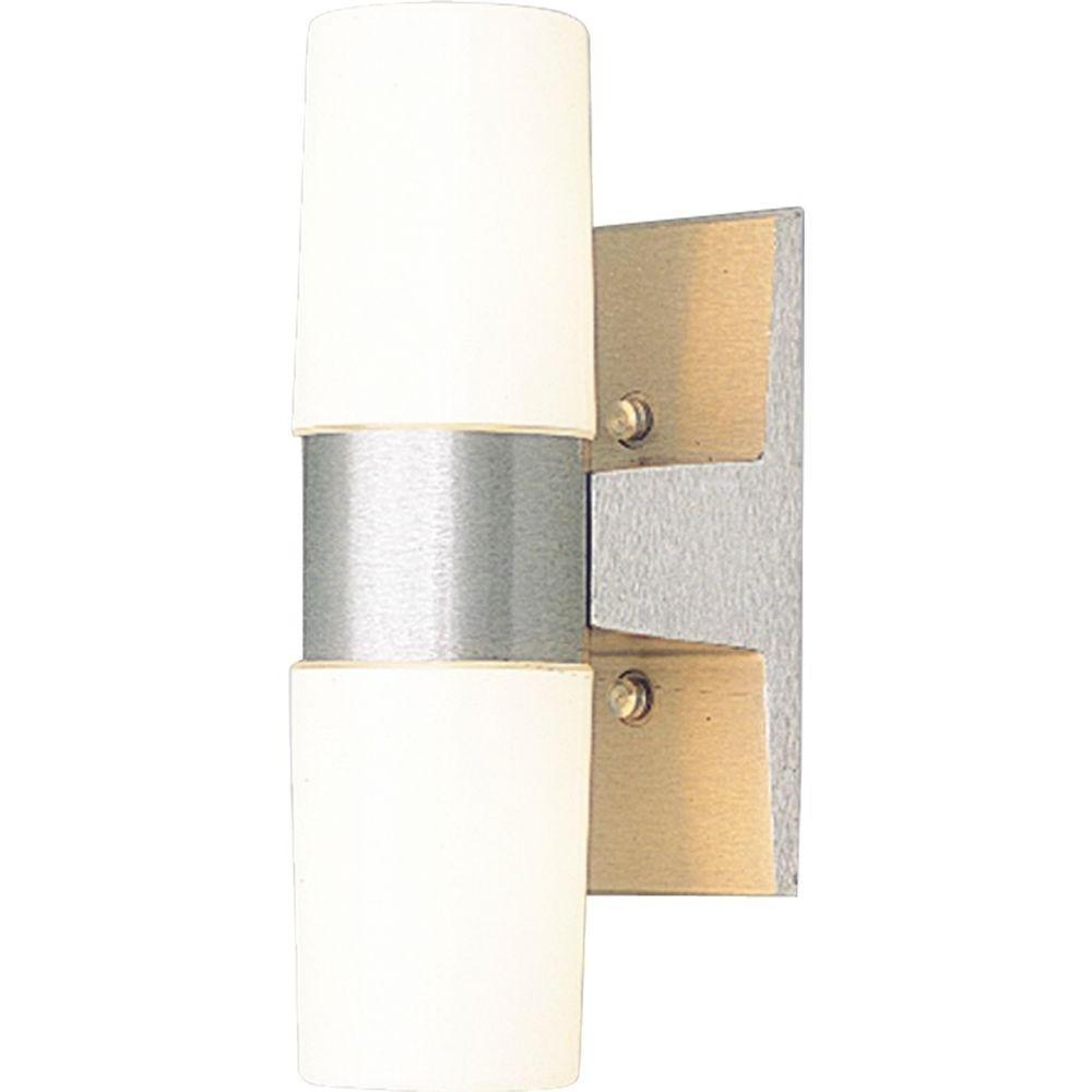 2019 Progress Lighting 2 Light Outdoor Satin Aluminum Wall Lantern P5512 Pertaining To Aluminum Outdoor Wall Lighting (View 13 of 20)
